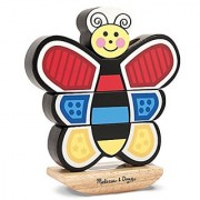Melissa & Doug Butterfly Stacker - Vertical Wooden Puzzle Toy