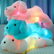 50CM Length Creative Night Light LED Lovely Dog Stuffed Animals and Lighting Plush Toys Best Gifts for Kids and Friends