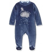 3 Pommes Little Fox, Pijama para Bebés, Azul (Indigo), 1 Mes