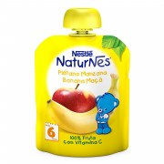 Nestle NaturNes piure de banane si mere, de la 6 luni, 90 g