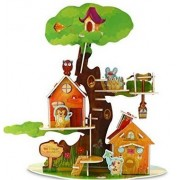 Forest Hut 3D Puzzle Dollhouse, The Best DIY Gift for Children, Toys Game 3d-puzzles