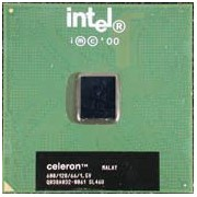 INTEL Celeron 600 Mhz SL46U - L1 32 Ko - L2 128 Ko - FSB 66 Mhz - socket FC-PGA 370 - gravure 0.18µm - coefficient multiplicateur 9.1 - voltage 1.5 V - puissance 12.6 W