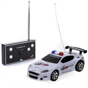 Four Color Mini Remote Control RC Police Car With LED Light(Color Random)