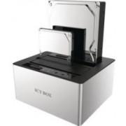Carcasa statie de andocare HDD 2x 2,5''/3,5'' SATA I/II/III, USB 3.0, JBOD, alb