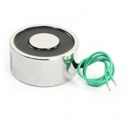 Uxcell Lifting Magnet Electromagnet Solenoid Lift Holding, 12V, 176 lb. /80 kg, 65 mm