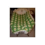 coperta uncinetto neonato pura lana vergine - prato di margherit