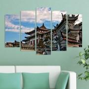 Декоративен панел за стена с традиционна японска архитектура Vivid Home