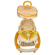 BayBee Shoppee Baby Land Walker (with Music and light) Cream 2900569