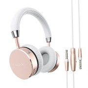 Satechi Auriculares Inalámbricos de Aluminio para iPhone 6, Samsung Galaxy S6y mas teléfonos inteligentes y tabletas (Oro Rosa)