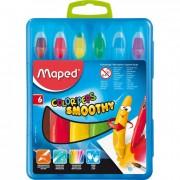 Creioane colorate cerate Maped 6 culori / set M836111