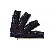 G.SKILL V-Series F 4-3200C14Q 64GVK 64 GB DDR4 3200 MHz CL14 1,35 V-Kit di memoria, colore: nero