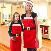 Christmas Style Houseware Apron - Red + White (Free Size)