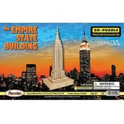 Puzzled The Empire State Building Wooden 3D Puzzle Construction Kit