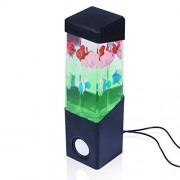 Dancing Water Speakers Stereo Dancing Water Speaker Light Show Speakers Portable Colorful LED Floating Fish Music Box Water Fountain Amplifier Water Dance Speaker