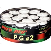 Pros Pro P.G. 2 - Overgrip Perforat Cutie 30 Buc alb