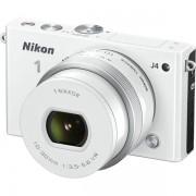 Aparat Foto Mirrorless Nikon 1 J4 (Alb), cu Obiectiv 10-30mm VR PD-Zoom, Filmare Full HD, 18.4 MP