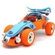 Creative Build & Play Sports Car - Original building flexible sheet 101 parts assembling model toy set for 5+ aged kids