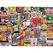 White Mountain Puzzles Popcorn - 550 Piece Jigsaw Puzzle