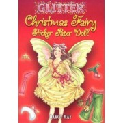 Glitter Christmas Fairy Sticker Paper Doll by Darcy May