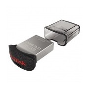 Memoria USB SanDisk Ultra Fit, 16GB, USB 3.0, Negro/Plata