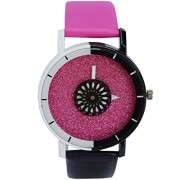 CREATOR Two colour youthful leather Strap watch
