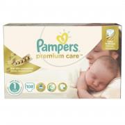 Pampers - Scutece Premium Care 1 New Baby Jumbo Pack 108 buc