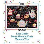 Ceaco Let's Chalk - Tea and Cakes Puzzle by Ceaco