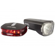 Red Cycling Products Eco LED USB Light Set - Set de lampes - noir Sets de lampes
