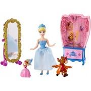 Disney Princess Little Kingdom Cinderella Doll and Furniture Playset by Mattel