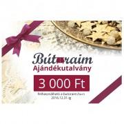 Ajándékutalvány 3 000 Ft - BÚTORAIM
