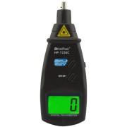 HOLDPEAK 7236C Digitális lézeres optikai fordulatszám mérő 60-99999 RPM hordozó táska.