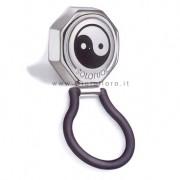 portaocchiali solotuo in acciaio e caucciu' nero yin yan