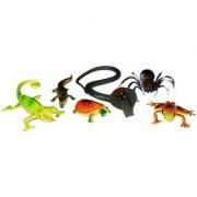Homeshopeez Gag Toys - 6 Pcs Reptile Set - Snake Lizard Crocodile Turtle Frog Scorpion