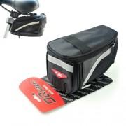 OQSports kerékpár nyereghez rögzíthető fekete táska