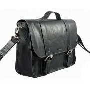 Skórzana torba na ramię, czarna