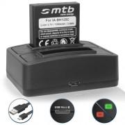 Batterie + Double Chargeur (USB) pour Pentax MX-1, X90 / Ricoh GR, GR II, Caplio R3, R4, R5, GX100 / WG-M1 / Sigma DP3 Merril... - v. liste