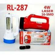 Rock Light (RL-287) Bright White 4W Dual Function Rechargeable Emergency Torch