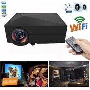 Mini Micro Video Projector GM60a 1000 lumens 1920x1080 Pixels 30 000 hours LED light life time Wireless Home Cinema Theater Multimedia Projector Support HD PC USB HDMI AV VGA