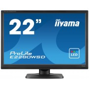 iiyama ProLite E2280WSD-B1 22' LED LCD 1680x1050 250cd/m² speakers VGA DVI 5ms TCO6