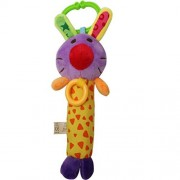 Babyfans Designs Soft Animal Model Handbells Rattles Zoo Baby Toy