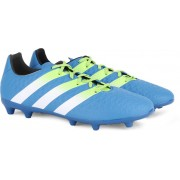 Adidas ACE 16.3 FG/AG Men Football Shoes(Black, Blue, White)