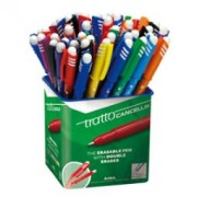 > Barattolo 50 penna sfera cancellabile CANCELLIK 1,0mm col. assortiti TRATTO (unit