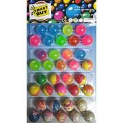 Crazy Bouncy Jumping Balls Set - Smart Buy (36 Small Crazy Ball)- Multicolor