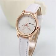 Mulheres Relógio de Moda Quartz Banda Preta / Branco / Vermelho / Marrom / Rosa / Rose marca-