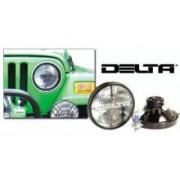 SET Faruri Becuri Xenon DELTA QUAD 7inch pt. 97-06 Jeep Wrangler TJ & Unlimited