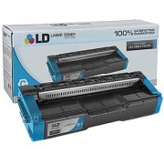 LD Compatible Replacement for Ricoh 406476 High Yield Cyan Laser Toner Cartridge for use in Ricoh Aficio SP C231N SP C232DN SP C242DN SP C242SF and SP C320DN Printers