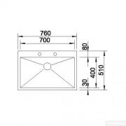 Blanco Zerox 700-If/A Stainless Steel Kitchen Sink