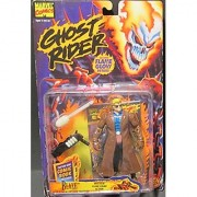 BLAZE with Mystical Flame Firing Action * Flame Glow Details* 1995 Marvel Comics Ghost Rider Action Figure & Mini Comic Book
