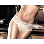 Baci Ivory Tulle Boyshorts with Lace Seams 930 - Small/Medium