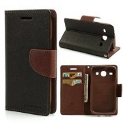 Imported Mercury Fancy Wallet Dairy Flip Case Cover for Nokia Lumia 520 - Black Brown